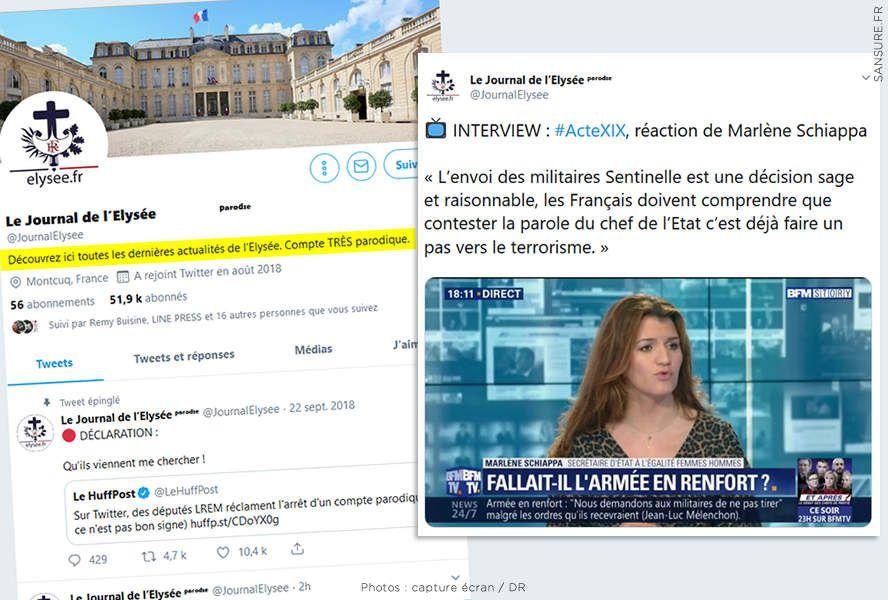 Qui est l'auteur du compte twitter du Journal de l'Elysée ? (vidéo) #FakeNews