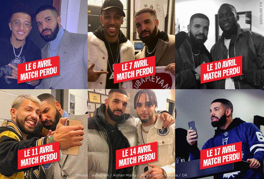 Drake est devenu le chat noir du football ! #Malédiction