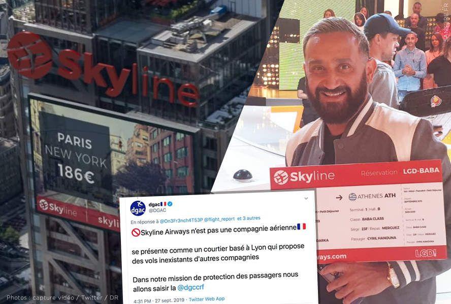 Vitaa et Hanouna piégés par la fausse compagnie aérienne Skyline Airways ? #SkylineAirways