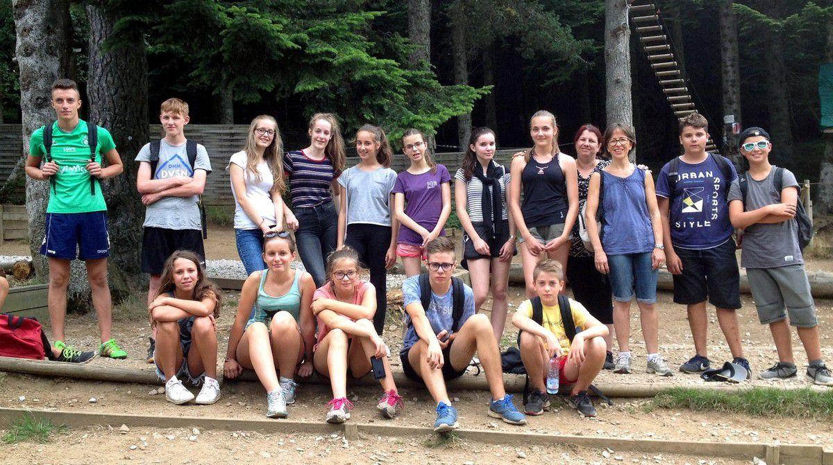 Neuf jeunes allemands à Vernosc-lès-Annonay