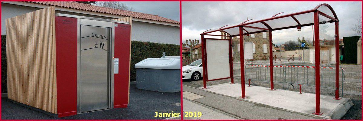 Nouveaux mobiliers urbains à Vernosc-lès-Annonay