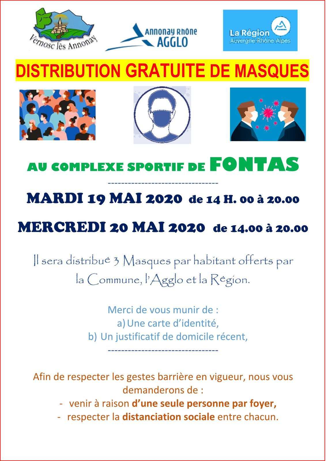 Distribution de masques alternatifs à Vernosc-lès-Annonay