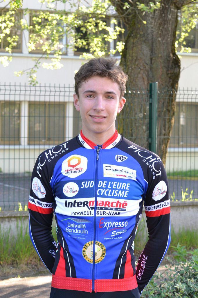 Portrait de Hugo THEOT (Sud de l'Eure Cyclisme)