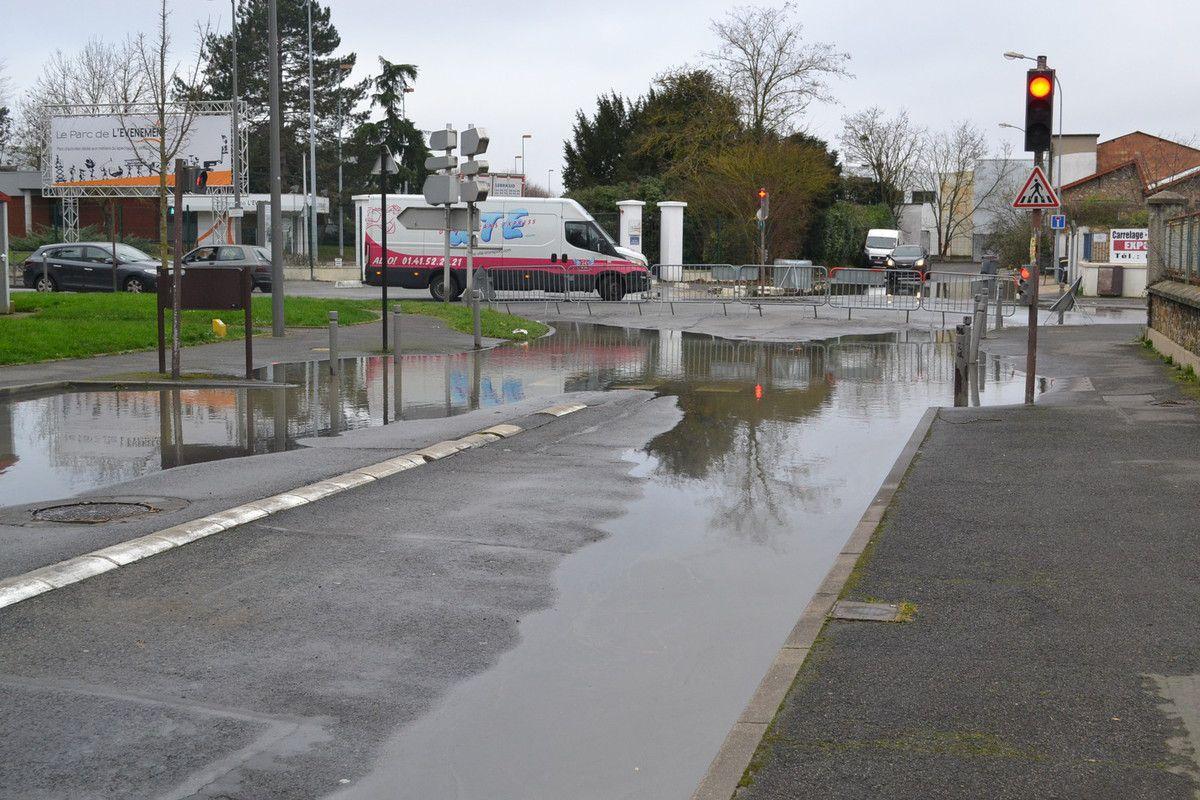 Les quelques rues inondées le 23 janvier 2018.