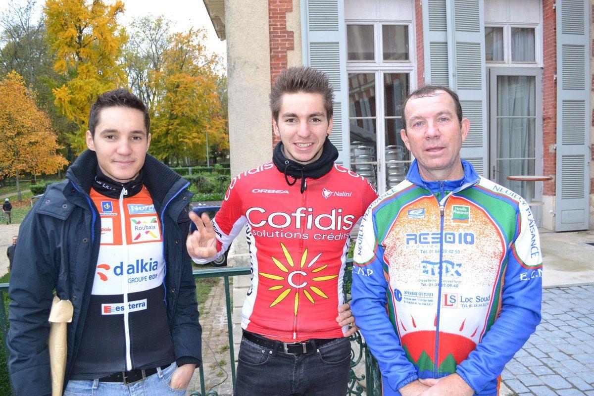 Fontenay lès Briis 2015; Jimmy et Anthony avec Michel Goupil (ECNP)
