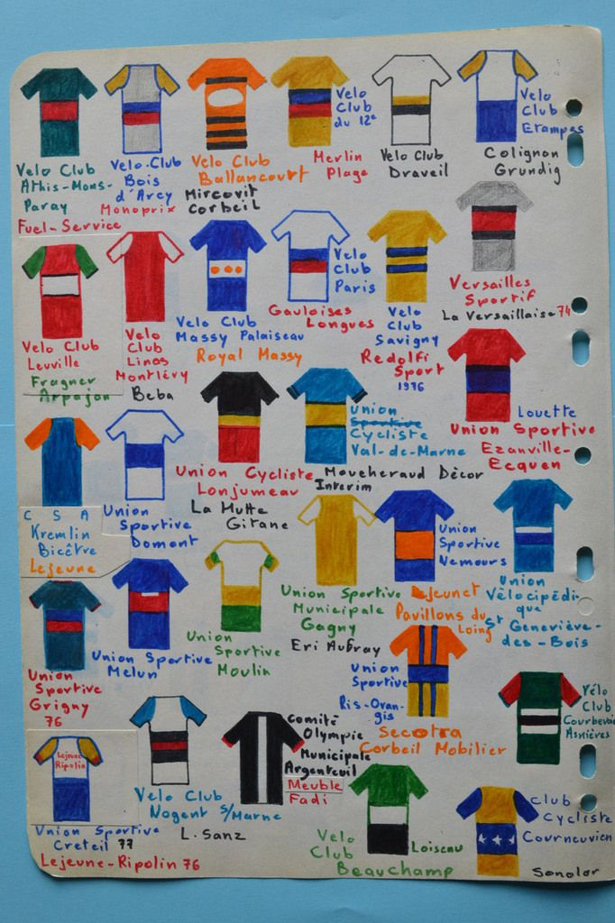 Maillots Franciliens.