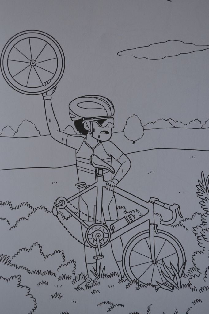 Album de coloriages: sur la route du Tour.