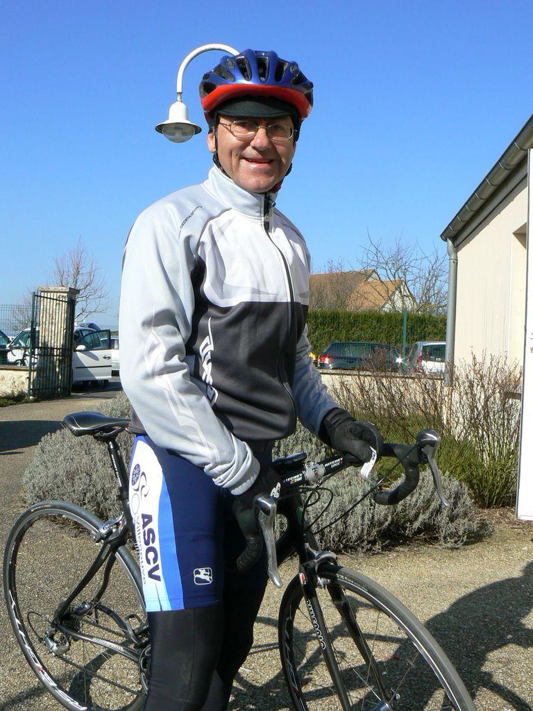 "Guénolé (ASCV), au départ d'Aubigny, course ""Ufolep"" en mars 2011."