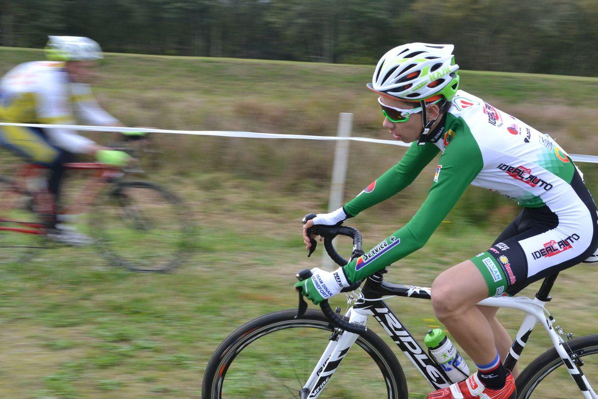 Clément LEBRAS ( Team Pays de Dinan), 1er junior.