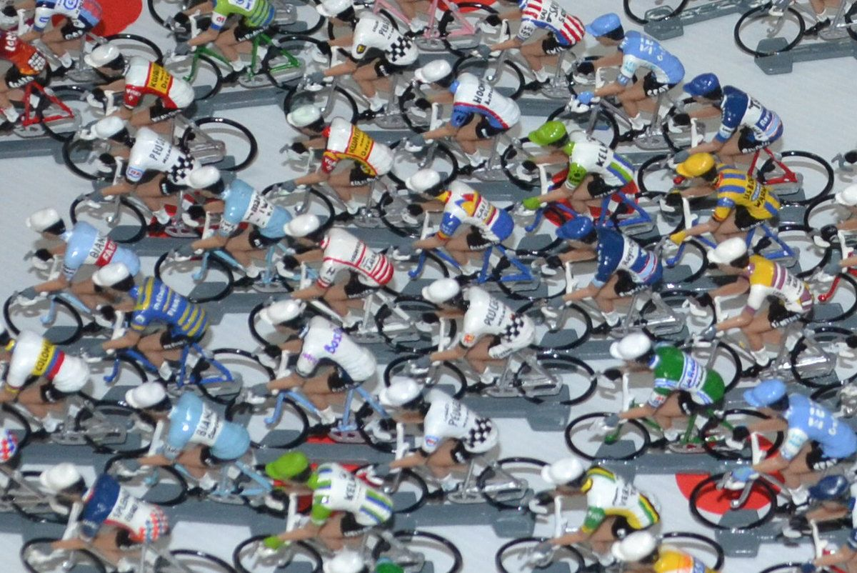 Miniatures cyclistes.