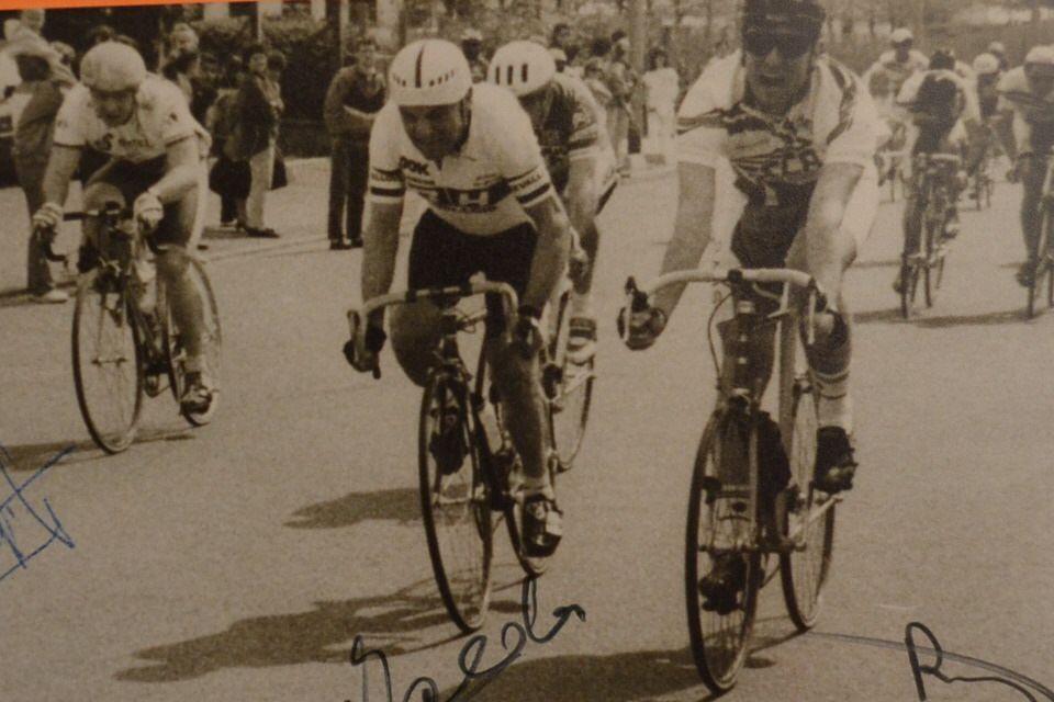 1992: Aulnay sous Bois: Christian ROUDAUT (UC Bry) bat Jean BALDASSARI (VC Leuvallois), je (Michel GOUPIL) suis 4è (à gauche): c'était en VLF3.
