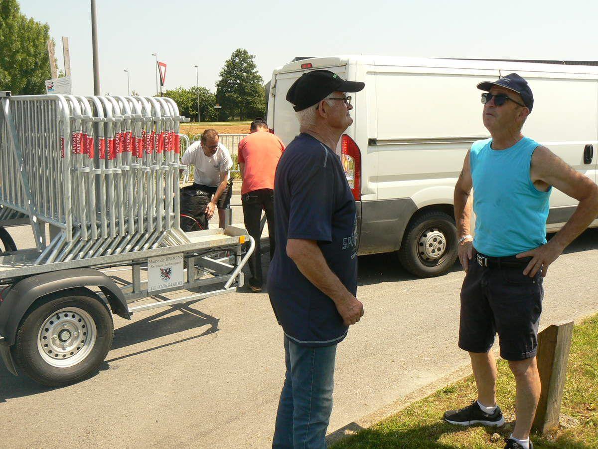 Installation des barrières.