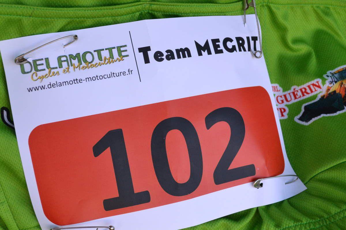 Dossard 102: Michel GOUPIL (Team Mégrit). Les dossards par M DELAMOTTE à Plélan le Petit.