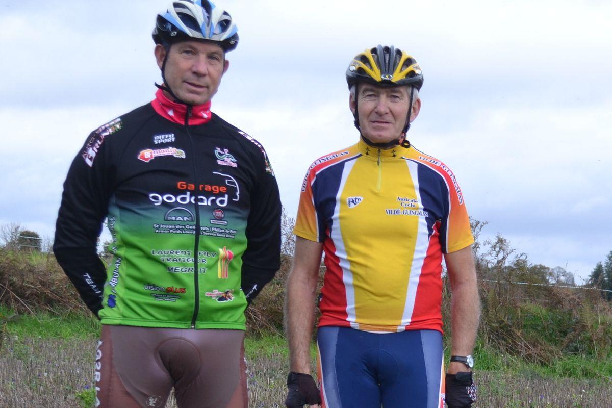 Médréac (22): 23 novembre 2019. Michel GOUPIL (Team Mégrit) et Jean-Charles.
