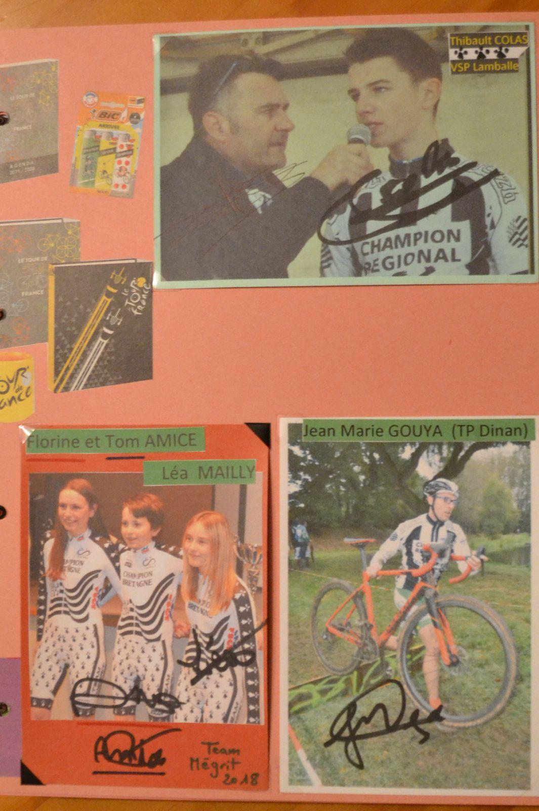 Champions de Bretagne: Thibault COLAS (au micro de Cyril PIETOT), Florine et Tom AMICE, Léa MAILLY et Jean-Marie GOUYA.