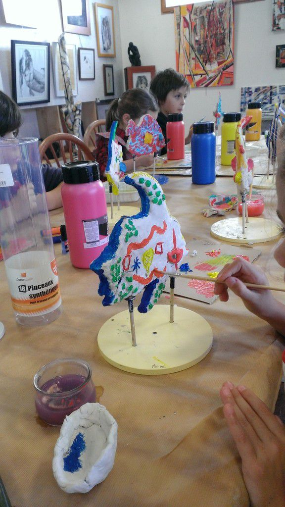 Stages enfants atelier arts-plastiques/gravure 2017-2018