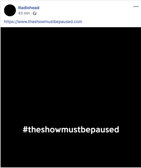 """Radiohead & """"The Show Must Be Paused"""" - 02/06/2020"""