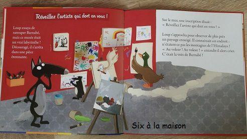 Le loup qui enquêtait au musée - Chut les enfants lisent! - Auzou -  Orianne Lallemand et EleonoreThuillier