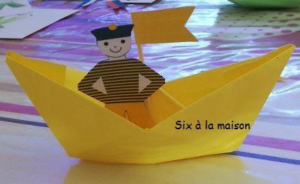 Origami bateau et marin diy enfant - activite vancances enfants