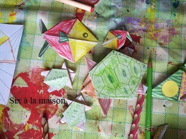 colorigami coloriage et origami enfants perroquet occuper activité diy vacances