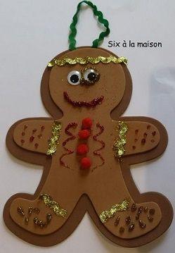 préparer Noël avec Toucan Box Bonhomme en pain d'épices de Mini J 6 ans