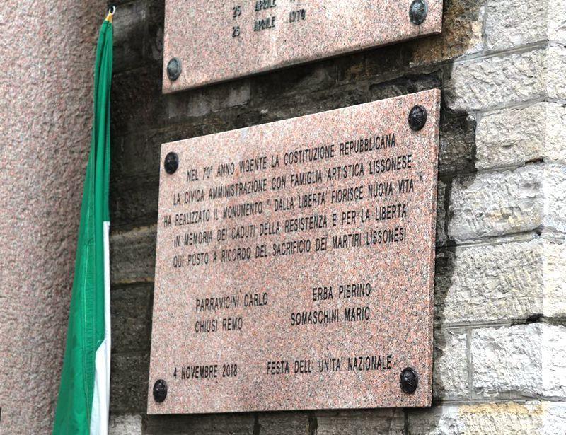 lapidi e monumenti di Lissone dedicati ai caduti nella guerra di Liberazione