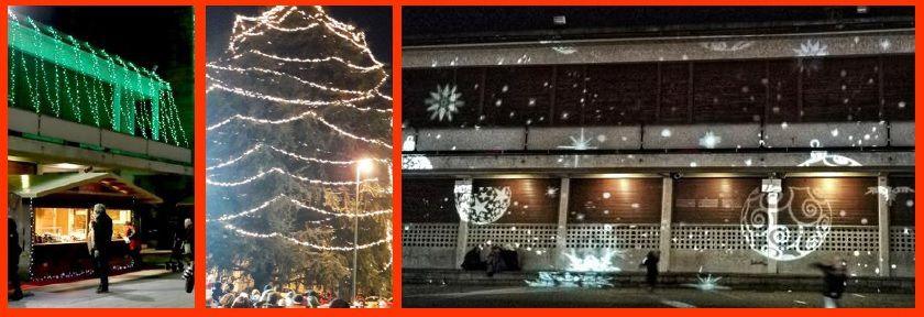 immagini di piazza Libertà in questo periodo natalizio