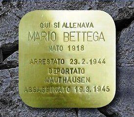 Una pietra d'inciampo dedicata a Mario Bettega