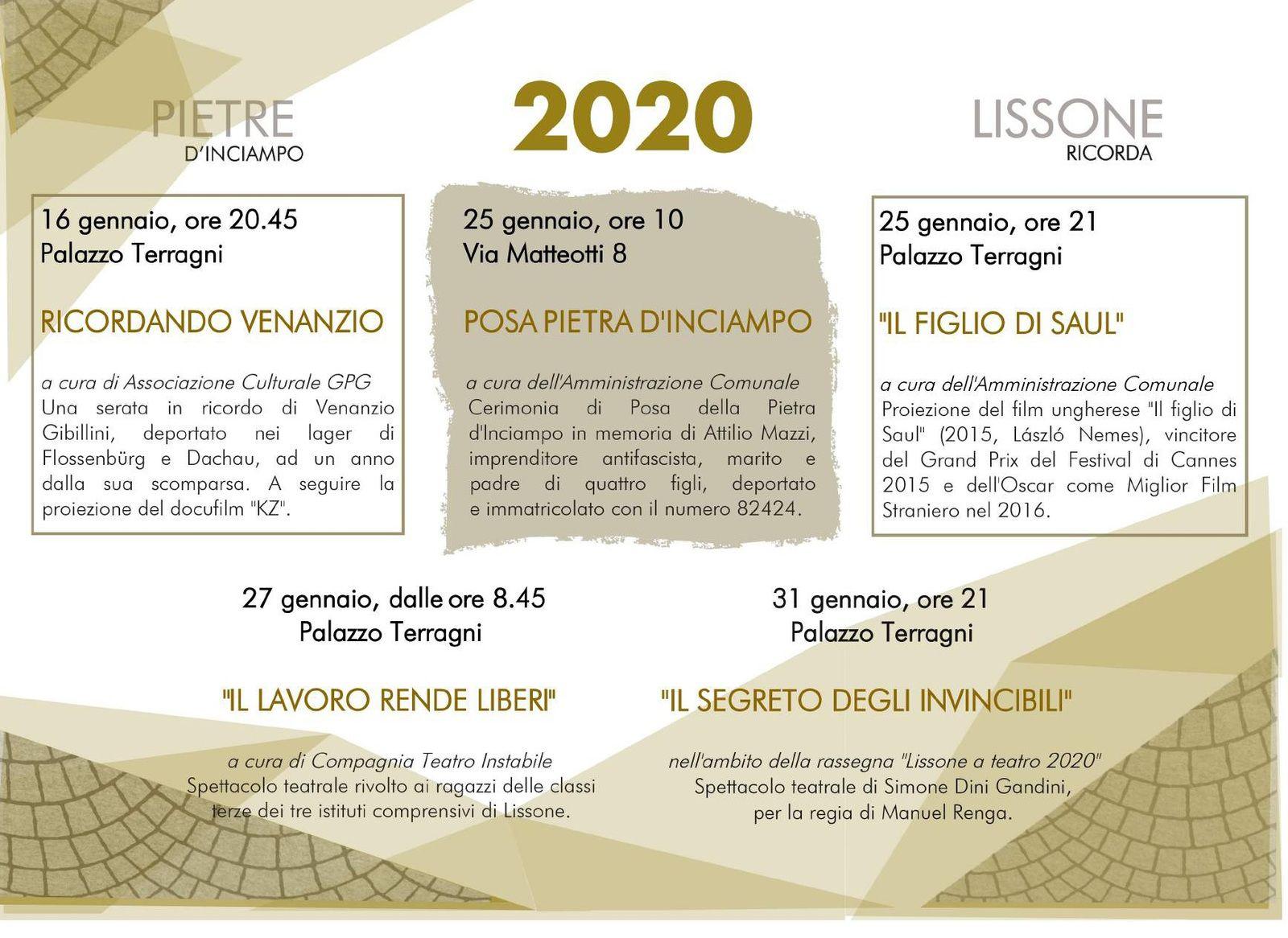 Lissone 2020 Pietra d'inciampo dedicata ad ATTILIO MAZZI