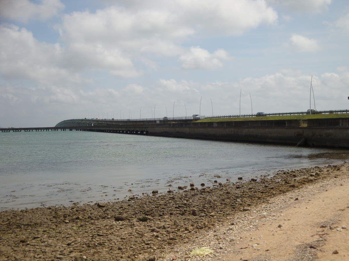 Arrivée de l'autre côté du pont, côté île d'Oléron. Quelques photos et un peu d'information.