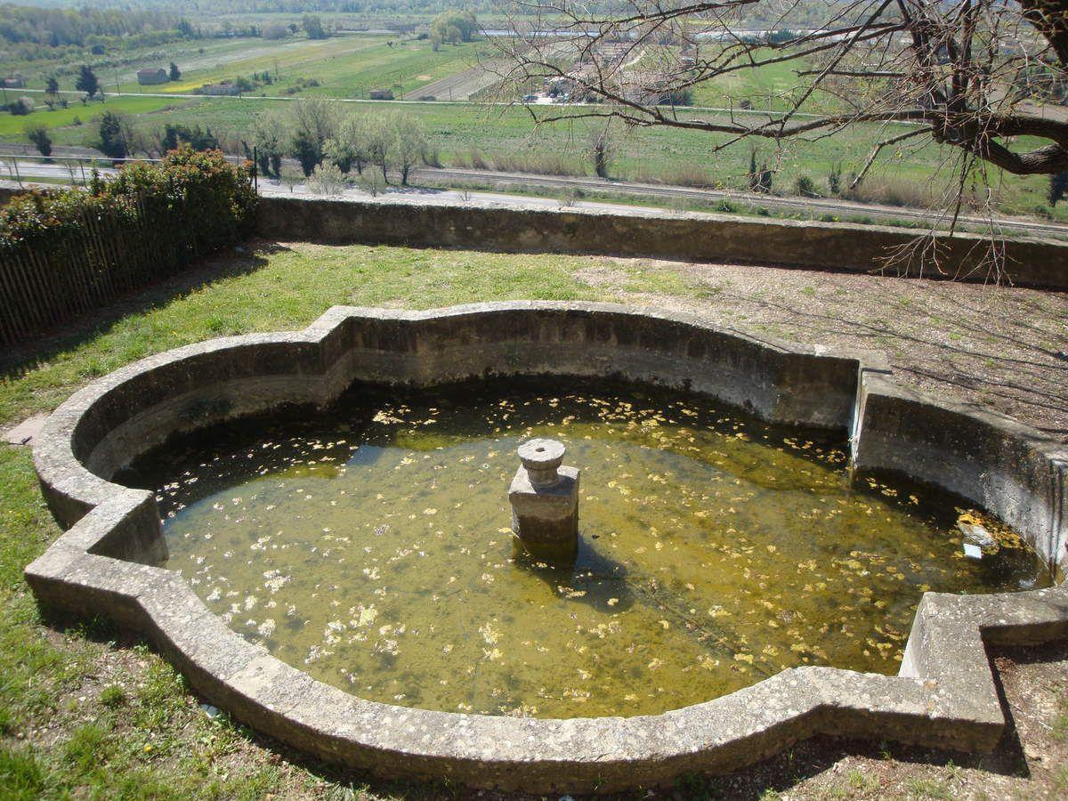 une partie des jardins du château