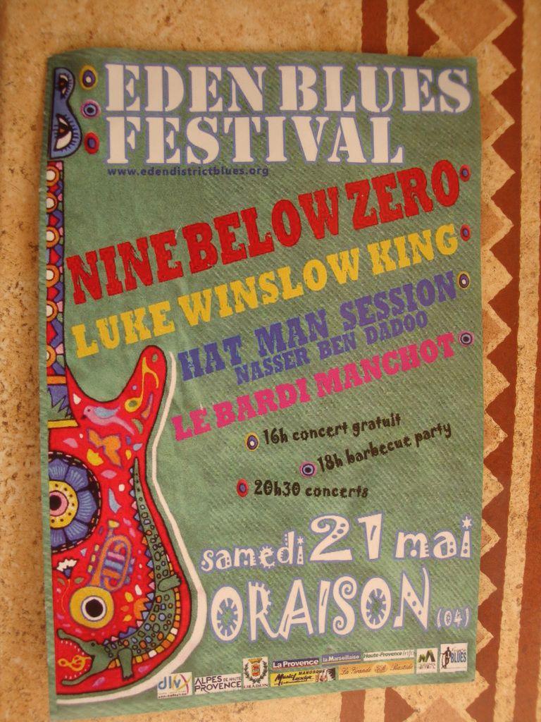 EDEN BLUES FESTIVAL à Oraison ( samedi 21 mai )