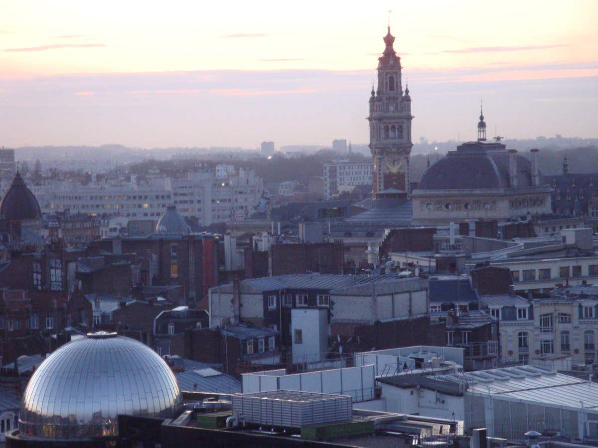 Le soleil se couche sur Lille