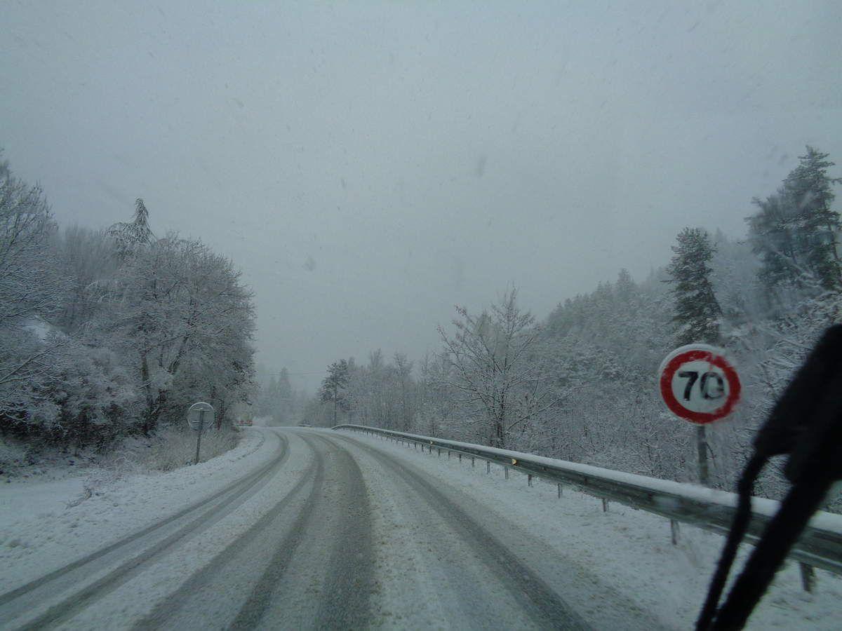 Le col du Labouret sous la neige !