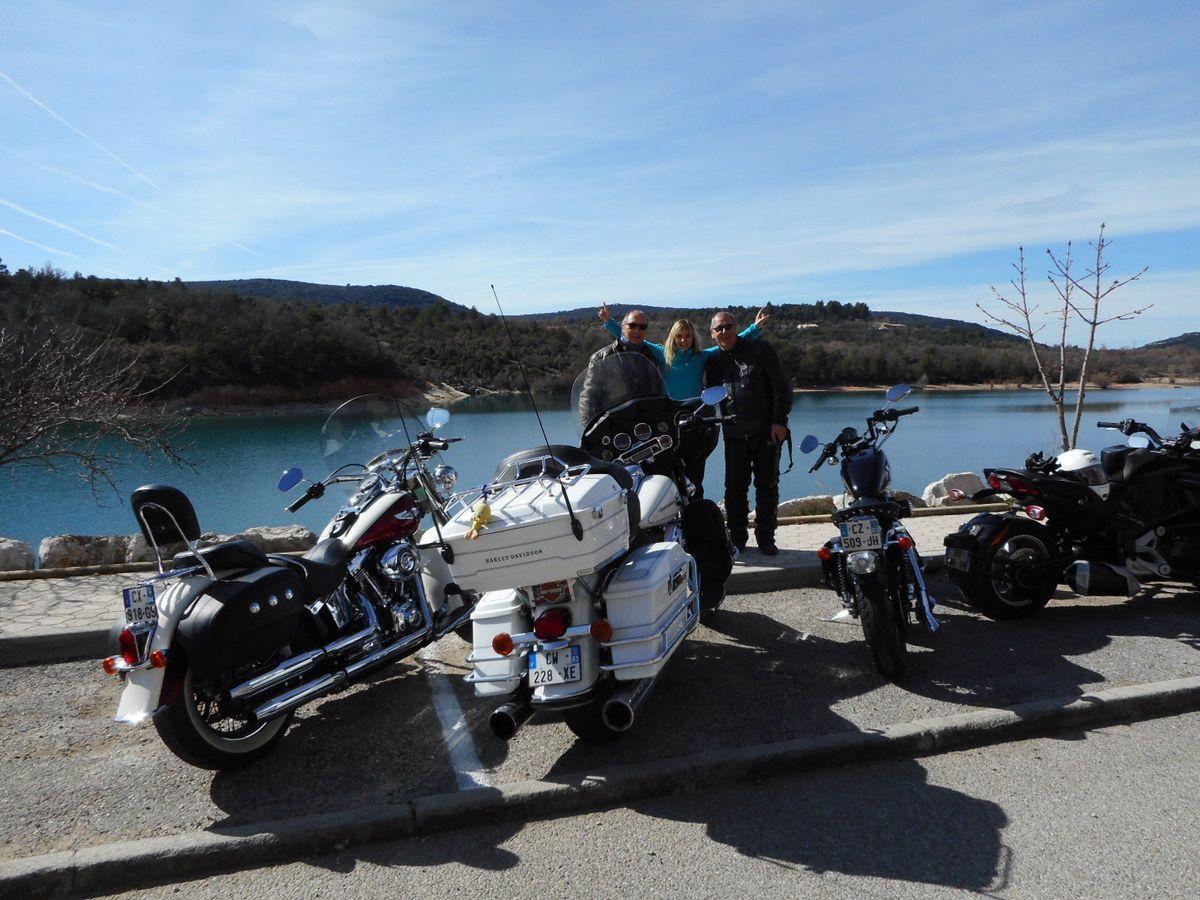 Bauduen en Harley Davidson