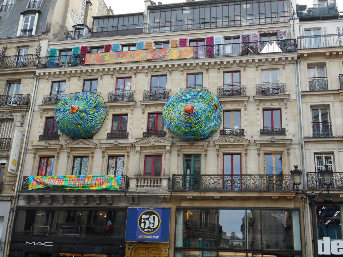 Résidence d'artistes, rue de Rivoli, Paris
