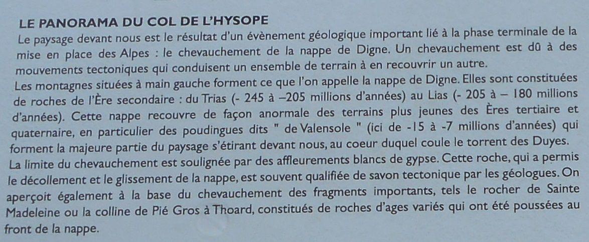 Col d'Hysope, 1236m