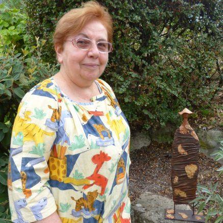 Marie Laure et sa statue