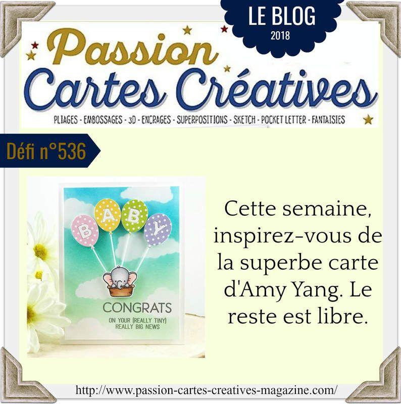 challenge 536  proposé par : Passion Cartes créatives avec un tampon Penny Black