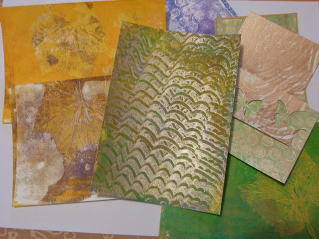 Gelli Plate : quelques applications et une carte