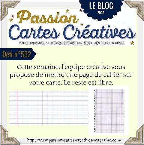 le défi 552 de Passion Cartes Créatives