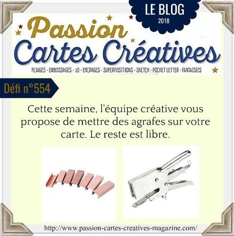 le défi 554 de Passion Cartes Créatives
