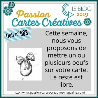 defi 583 de Passion Cartes Créatives : ma proposition