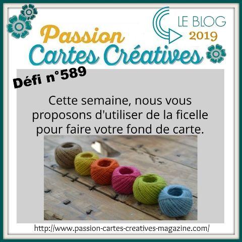 le defi 589 de Passion Cartes Créatives, ma proposition