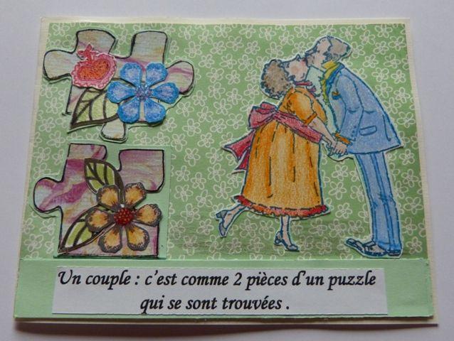 le défi 593 de Passion Cartes Créatives : inspiration puzzle