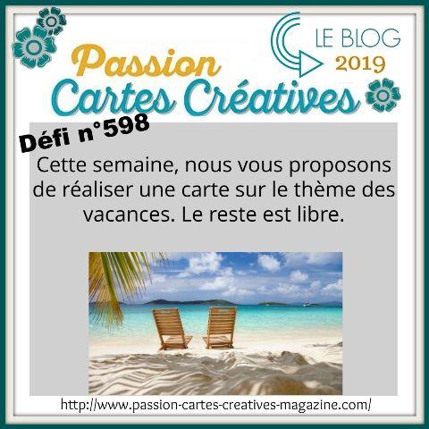 le défi 598 et 599de Passion Cartes Créatives : mes propositions