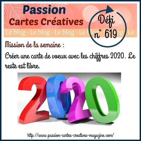 défi 619 de Passion Cartes Créatives : ma participation