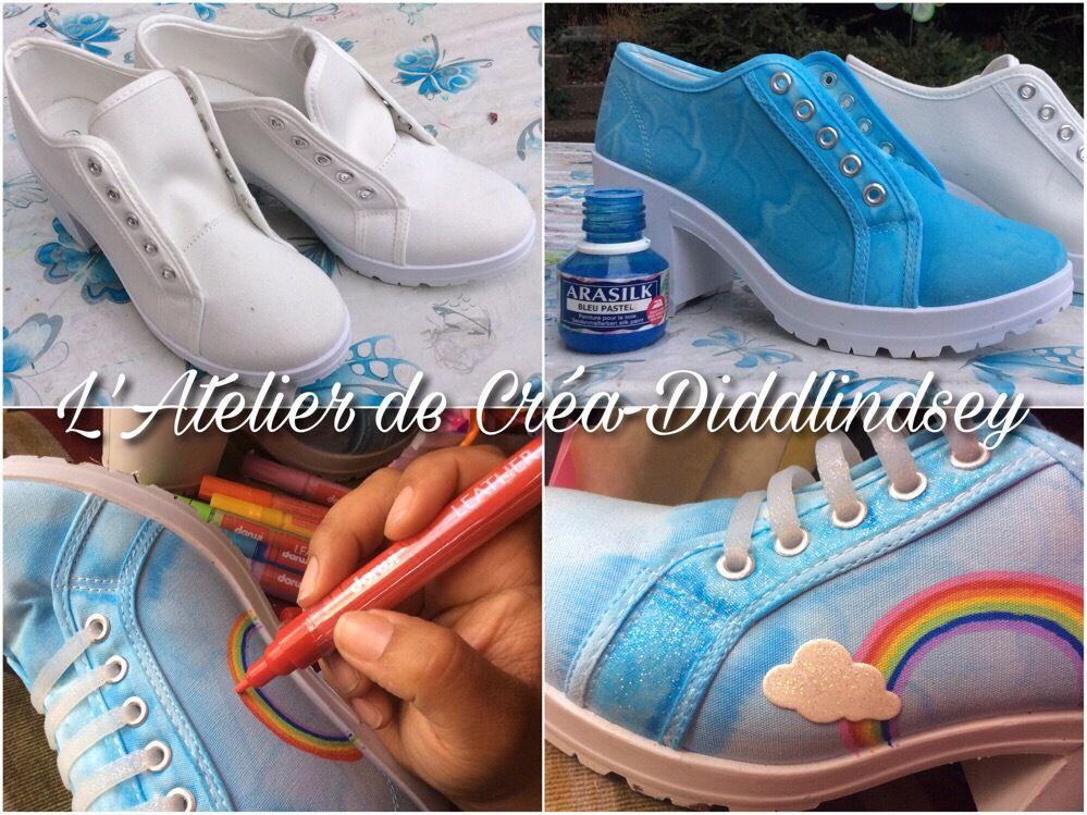 Nouvelle deco de chaussures et avec les Darwi leather  sur le thème Bisounours
