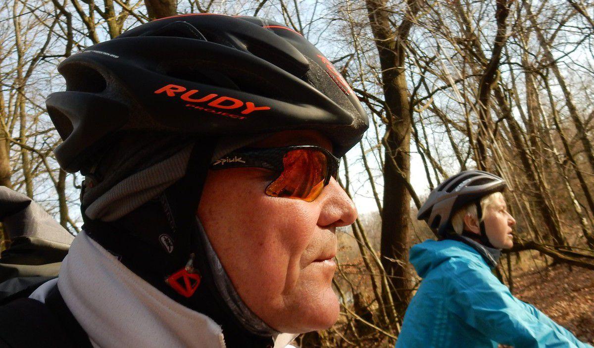 17. Februar ein  Training im Sonnenschein mit dem MTB