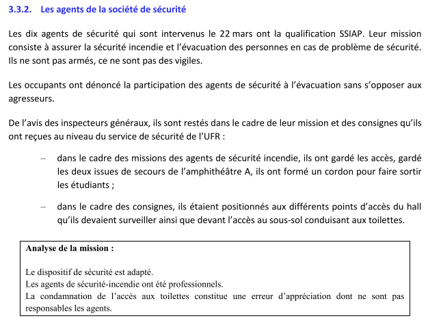 Violence à la Fac de Montpellier: Les agents de sécurité dédouanés complètement [Rapport officiel]